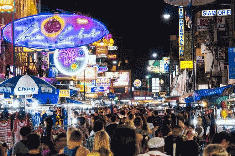 Khao San Road bazaar, Thailand