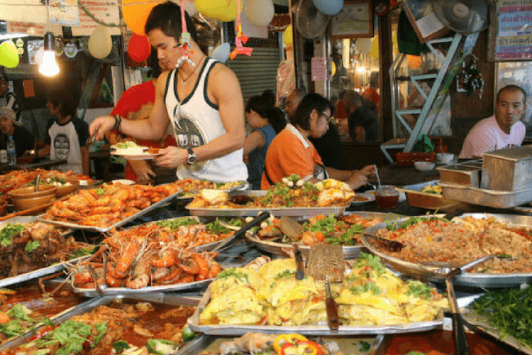 Delicious street food in Thaialnd