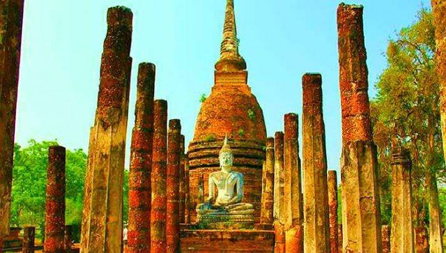 Wat Mahathat Temple, Sukhothai, Thailand images